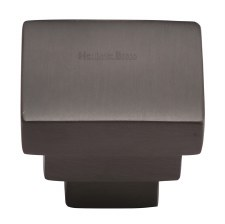 Heritage Square Stepped Knob C3672 Matt Bronze