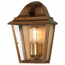 Elstead St James Flush Outdoor Wall Lantern Antique Brass