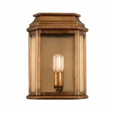 Elstead St Martins Flush Outdoor Wall Lantern Antique Brass