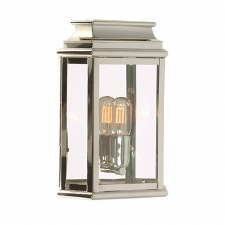 Elstead St Martins Flush Outdoor Lantern Polished Nickel