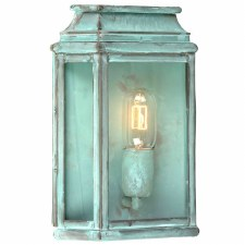 Elstead St Martins Flush Outdoor Lantern Verdigris