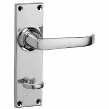 Croft Stafford 1745B Bathroom Door Handles Polished Chrome