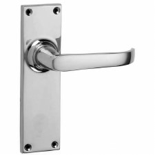 Croft Stafford 1745L Door Latch Handles Polished Chrome