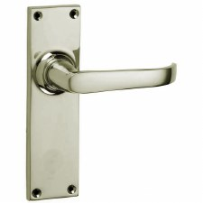 Croft Stafford 1745L Door Latch Handles Polished Nickel