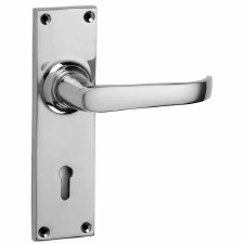 Croft Stafford 1745 Door Lock Handles Polished Chrome