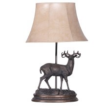Stag Table Lamp & Shade PY187