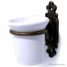 Monza Toothbrush Holder Antique Brass