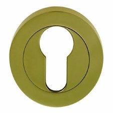 Standard  Escutcheon Polished Brass Lacquered