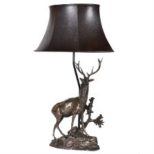 Deer Table Lamp & Shade PY209