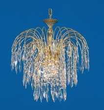3 Light Starlite Chandelier Gold & Crystal