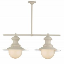 David Hunt EP0233 Station 2 Light Pendant Cotswold Cream