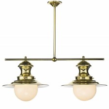 David Hunt EP0240 Station 2 Light Pendant Polished Brass