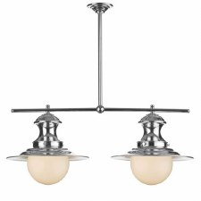 David Hunt EP0250 Station 2 Light Pendant Polished Chrome