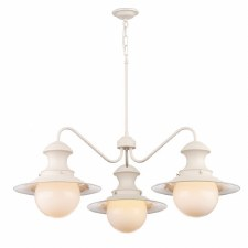 David Hunt EP5333 Station 3 Arm Ceiling Pendant Light Dual Mount Cotswold Cream