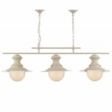 David Hunt EP0333 Station 3 Light Bar Pendant Cotswold Cream
