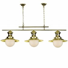 David Hunt EP0340 Station 3 Light Bar Pendant Polished Brass
