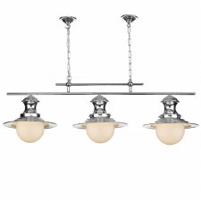 David Hunt EP0350 Station 3 Light Bar Pendant Polished Chrome