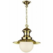 David Hunt EP40 Station Ceiling Pendant Light Polished Brass
