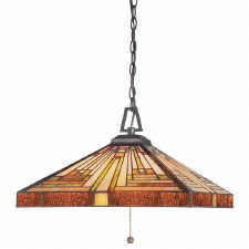 Quoizel Stephen Tiffany Pendant Light Vintage Bronze