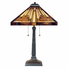 Quoizel Stephen Tiffany Table Lamp Vintage Bronze