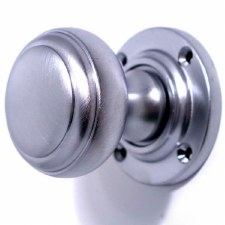 Stepped Bun Door Knobs Satin Chrome