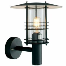 Elstead Stockholm Outdoor Wall Light Black