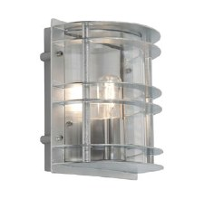 Elstead Stockholm Flush Outdoor Light Galvanised Clear Glass