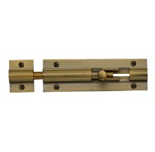 "Heritage Straight Door Bolt C1582 4"" Antique Brass"