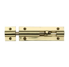 "Heritage Straight Door Bolt C1582 4"" Polished Brass"