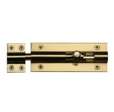 "Heritage Straight Door Bolt C1584 4"" Polished Brass"