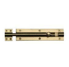 "Heritage Straight Door Bolt C1584 6"" Polished Brass"