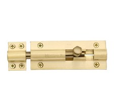 "Heritage Straight Door Bolt C1584 4"" Satin Brass"