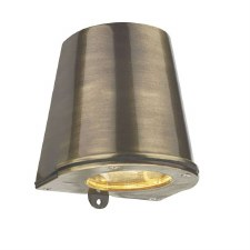 David Hunt STR1575 Strait Outdoor Flush Light Antique Brass IP44