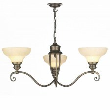 David Hunt ST311 Stratford 3 Arm Ceiling Pendant Light Aged Brass