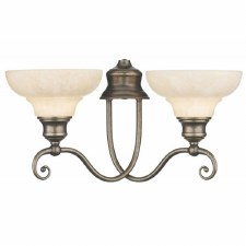 David Hunt ST211 Stratford Double Wall Light Aged Brass