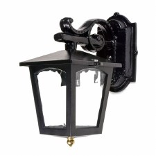 Stratford Cast Outdoor Wall Down Light Black