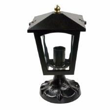 Stratford Cast Pedestal Lantern Light Black