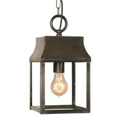 Strathmore Hanging Lantern Small Antique Brass