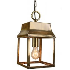 Strathmore Hanging Lantern Small Light Antique Brass