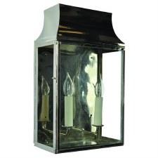 Strathmore Large Flush Outdoor Lantern Nickel