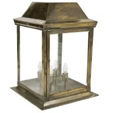Strathmore Gate Post Lantern Large Light Antique Brass