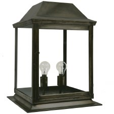 Strathmore Gate Post Lantern Medium Antique Brass