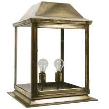 Strathmore Gate Post Lantern Medium Light Antique Brass