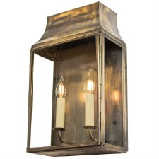 Strathmore Flush Outdoor Wall Lantern Medium Light Antique Brass
