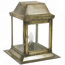 Strathmore Gate Post Lantern Small Light Antique Brass