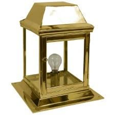 Strathmore Gate Post Lantern Small Polished Brass