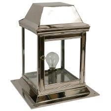Strathmore Gate Post Lantern Small Polished Nickel
