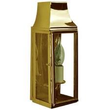 Strathmore Slim Flush Outdoor Wall Lantern Polished Brass