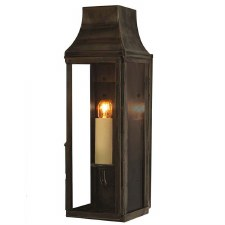 Strathmore Slim Flush Outdoor Wall Lantern Tall Antique Brass