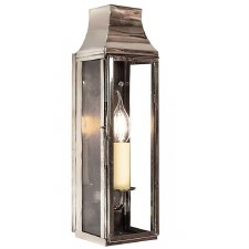 Strathmore Slim Tall Flush Outdoor Wall Lantern Polished Nickel